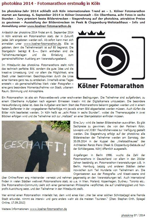 Kölner photomarathon Bericht